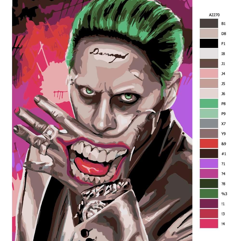 Návod pro malování podle čísel Joker 05