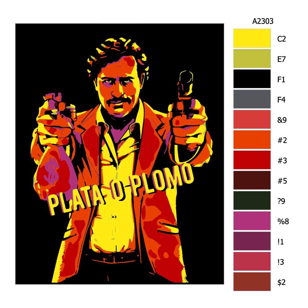 Návod pro malování podle čísel Pablo Escobar 02