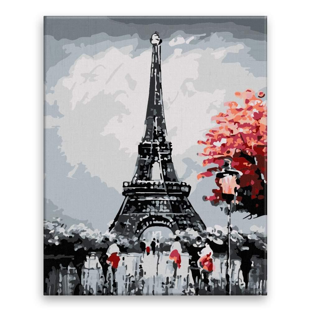 Malování podle čísel Paříž za soumraku