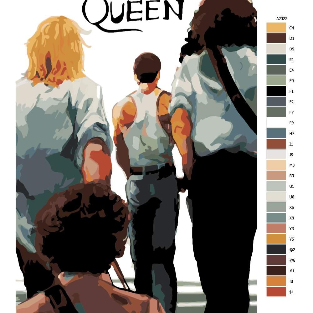 Návod pro malování podle čísel Queen