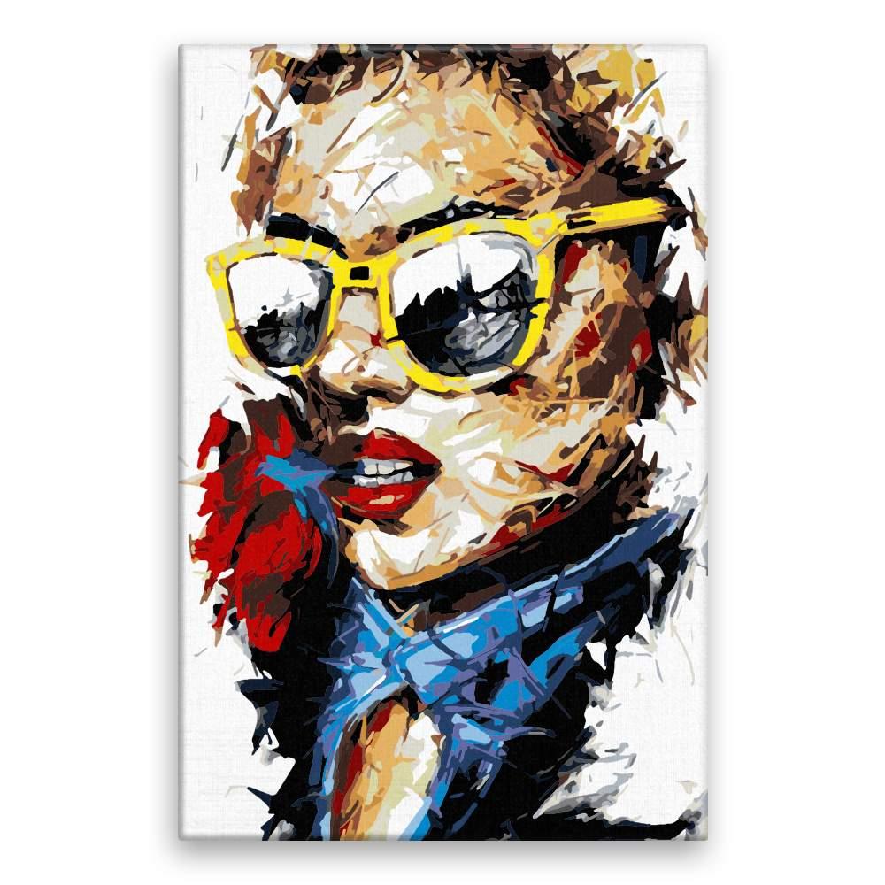 Malování podle čísel S růží v ústech