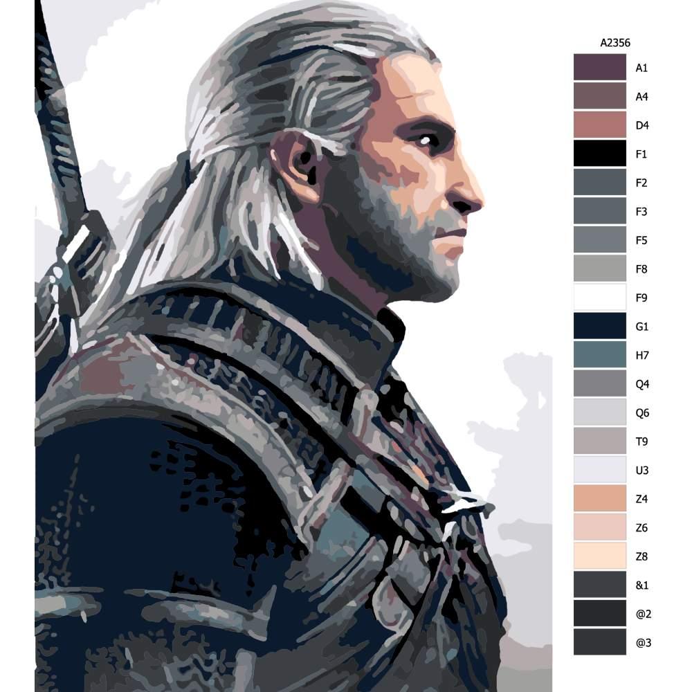 Návod pro malování podle čísel The Witcher 02