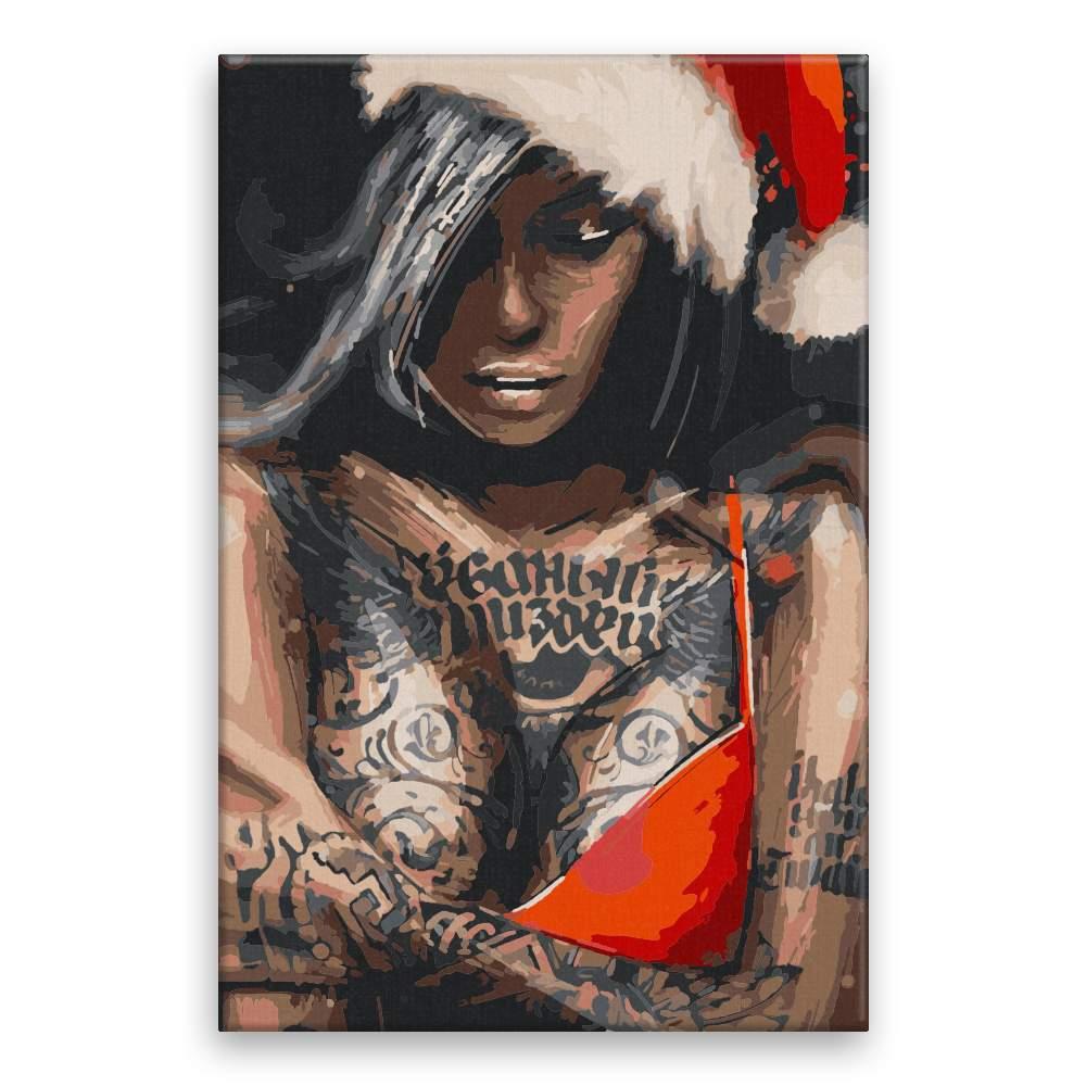 Malování podle čísel Veselé vánoce