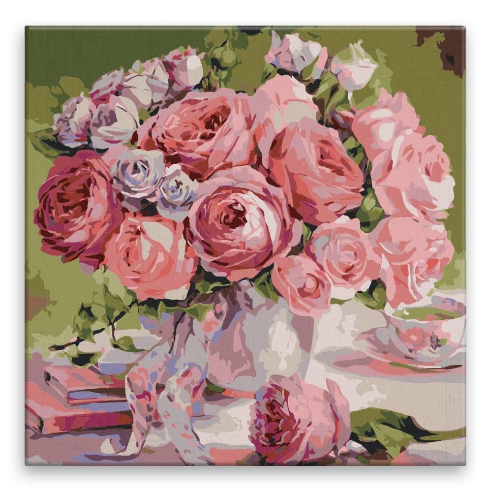 Malování podle čísel Záplava květin