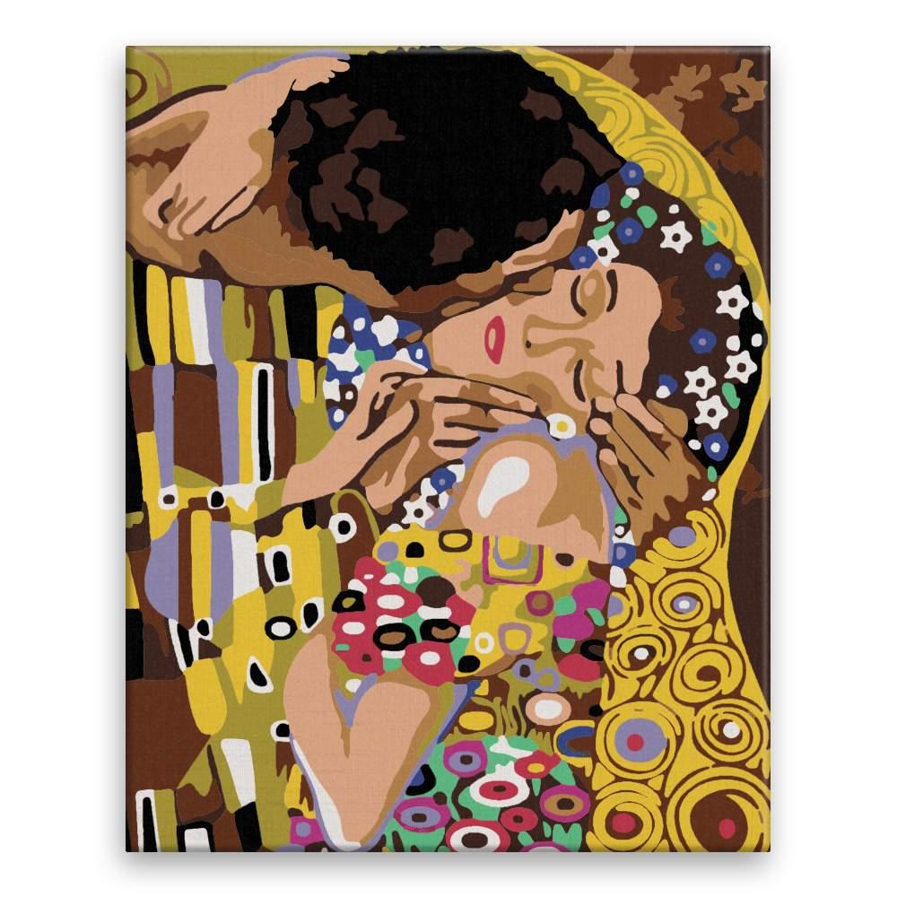 Malování podle čísel Detail Polibek Gustav Klimt