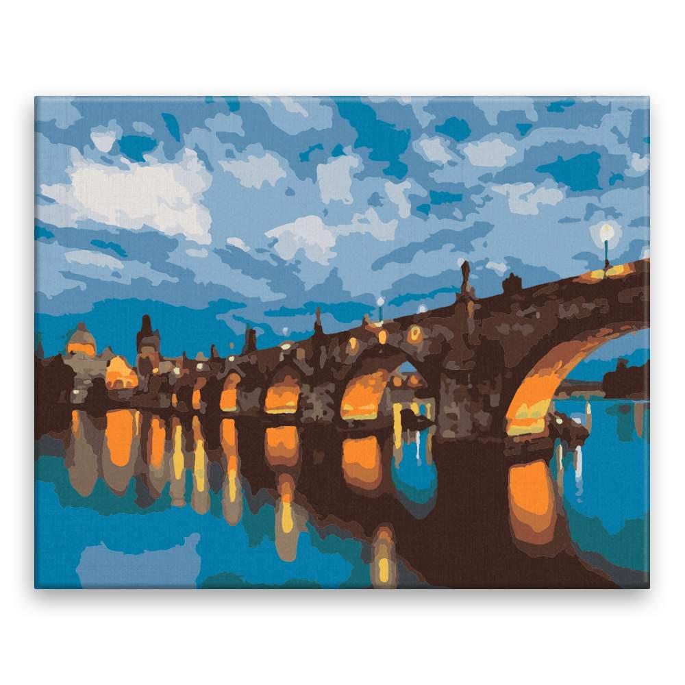 Malování podle čísel Karlův most v podvečer