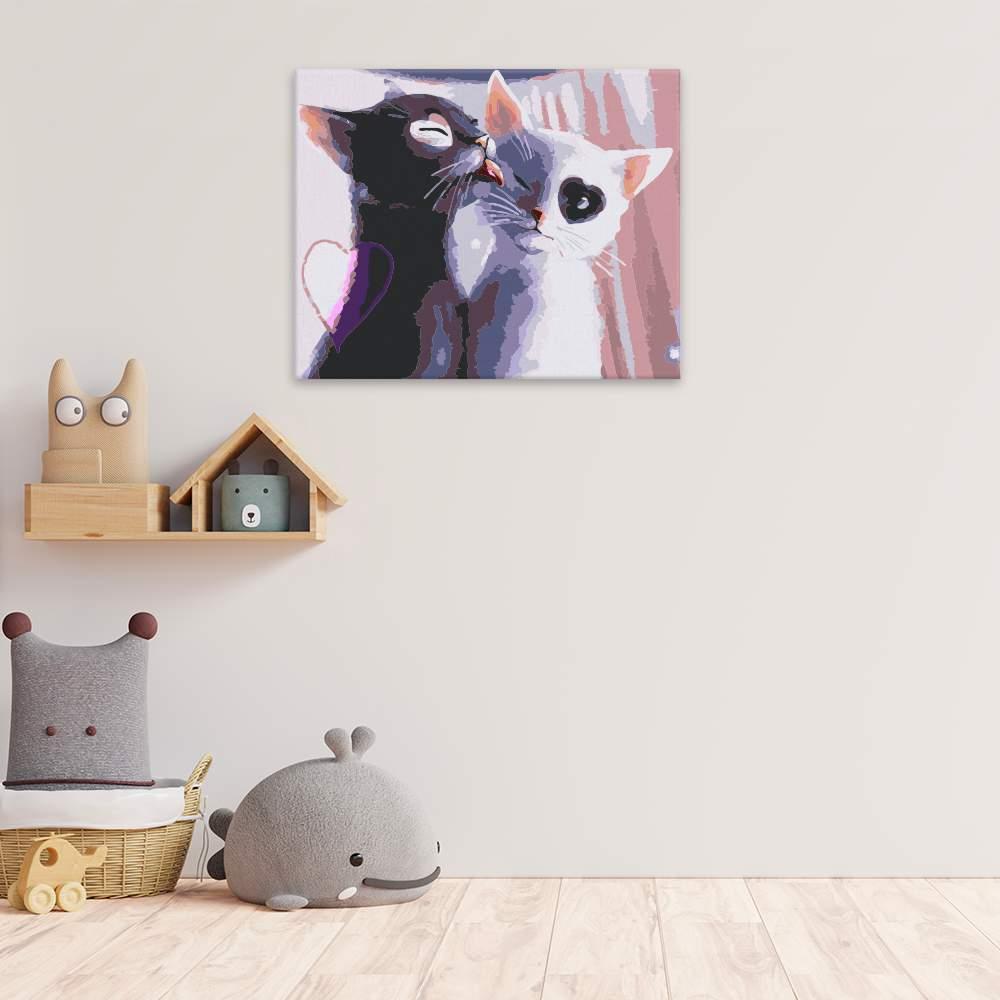 Malování podle čísel Kočičí láska