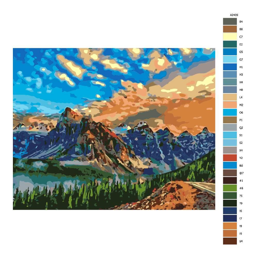 Návod pro malování podle čísel Zasloužený výhled