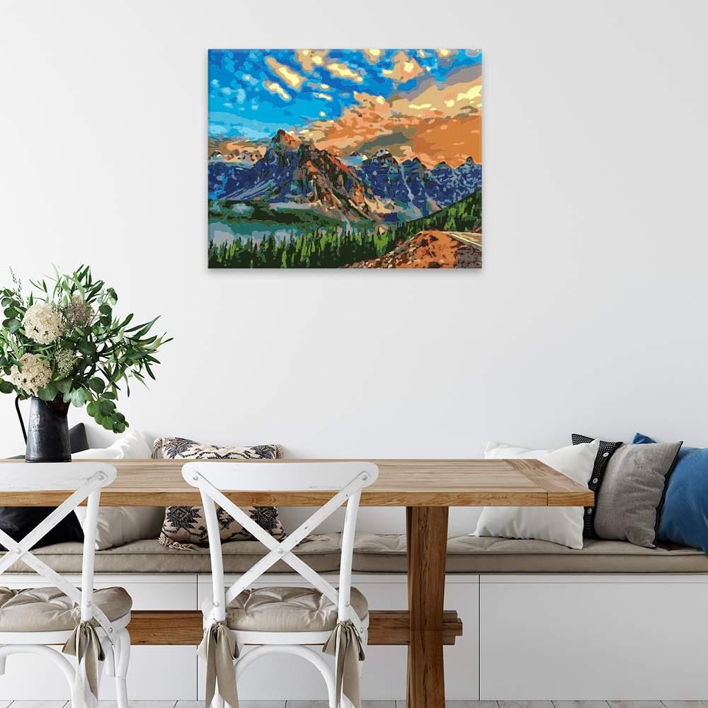 Malování podle čísel Zasloužený výhled